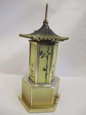 1950s Pagoda shaped cigarette case musical box