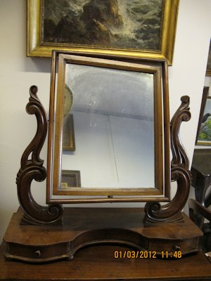 Late 19th Century large walnut mirror