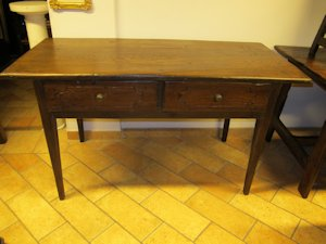 Rectangular chestnut table