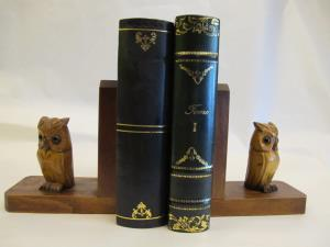 1940s bookends in a owl shape
