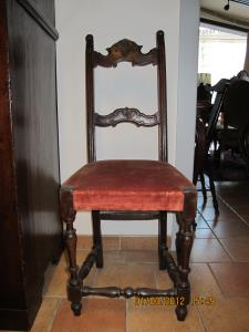 17th Century  six reel chairs