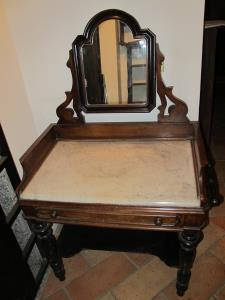 19th Century dressing table with marble